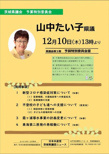 日本共産党茨城県議団ニュース 2020年12月号外